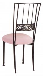 Mahogany Bella Fleur with Pink Sparkle Velvet Cushion