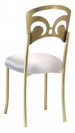 Gold Fleur de Lis with Platinum Satin Cushion