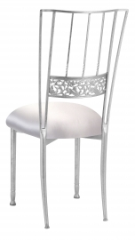 Silver Bella Fleur with Platinum Satin Boxed Cushion