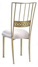 Gold Bella Braid with Platinum Satin Cushion