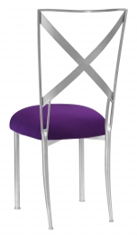 Silver Simply X with Plum Stretch Knit Cushion