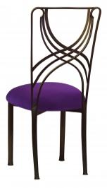 Bronze La Corde with Plum Stretch Knit Cushion