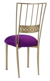 Gold Bella Braid with Plum Stretch Knit Cushion