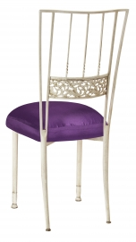 Ivory Bella Fleur with Purple Taffeta Boxed Cushion