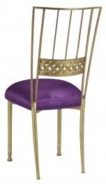 Gold Bella Braid with Purple Taffeta Boxed Cushion
