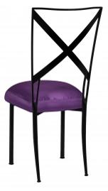 Blak. with Purple Taffeta Boxed Cushion