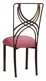 Bronze La Corde with Raspberry Suede Cushion