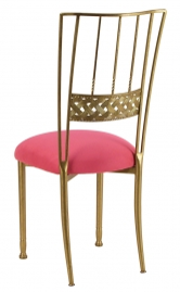 Gold Bella Braid with Raspberry Suede Cushion