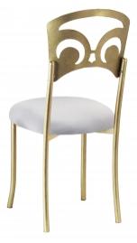Gold Fleur de Lis with Silver Stretch Knit Cushion