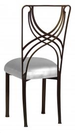 Bronze La Corde with Silver Leatherette Boxed Cushion