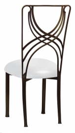 Bronze La Corde with Metallic Silver on White Stretch Knit Cushion