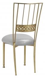 Gold Bella Braid with Metallic Silver Stretch Knit Cushion