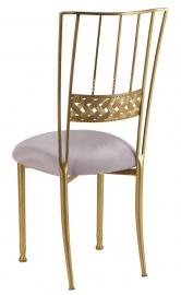 Gold Bella Braid with Silver Stretch Knit Cushion
