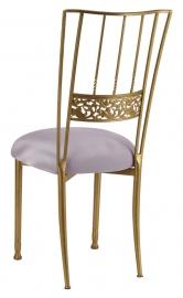Gold Bella Fleur with Silver Stretch Knit Cushion