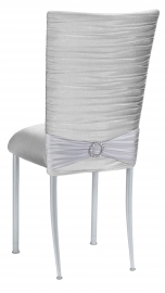Chloe Silver Stretch Knit Chair Cover
