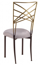 Two Tone Gold Fanfare with Silver Stretch Knit Cushion