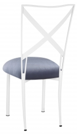 Simply X White with Steel Velvet Cushion