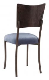 Wood Back Top with Steel Velvet Cushion on Brown Legs