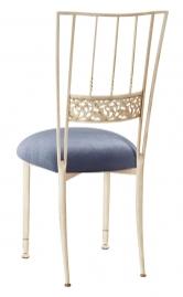 Ivory Bella Fleur with Steel Velvet Cushion
