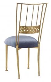 Gold Bella Braid with Steel Velvet Cushion