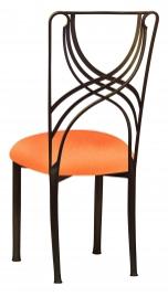Bronze La Corde with Tangerine Stretch Knit Cushion