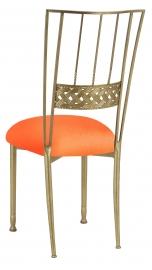 Gold Bella Braid with Tangerine Stretch Knit Cushion