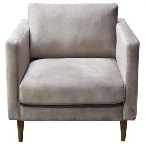 Grey Velvet Side Chair Rental