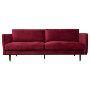 Burgundy Velvet Sofa Rental
