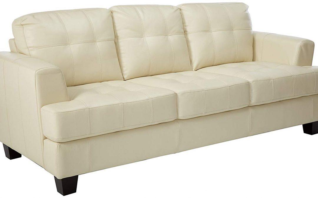 White Tufted Sofa